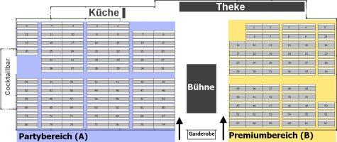 Saalplan mit Tischnummern